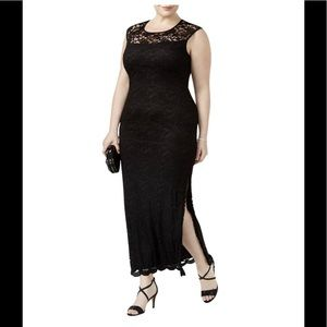 Formal Dress Plus Size 20 W Black Tie Gown Lace